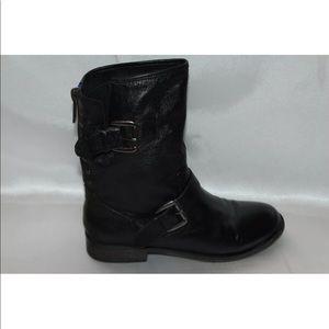 b6bd214cb8e Steve madden Moto biker black leather zip boots